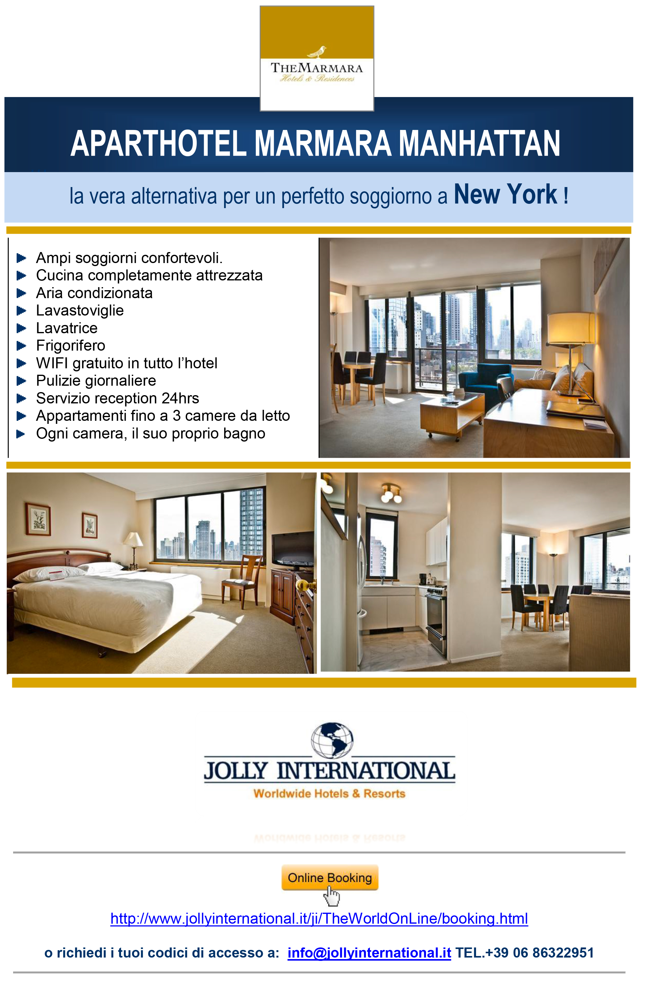 Jolly international appartamenti a new york e miami for Appartamenti new york affitto manhattan